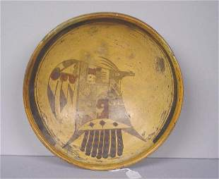 EARLY HOPI SHALLOW BOWL. Possibly by Nam