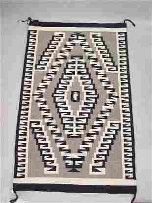 NAVAHO RUG. Two Gray Hills style. Intric