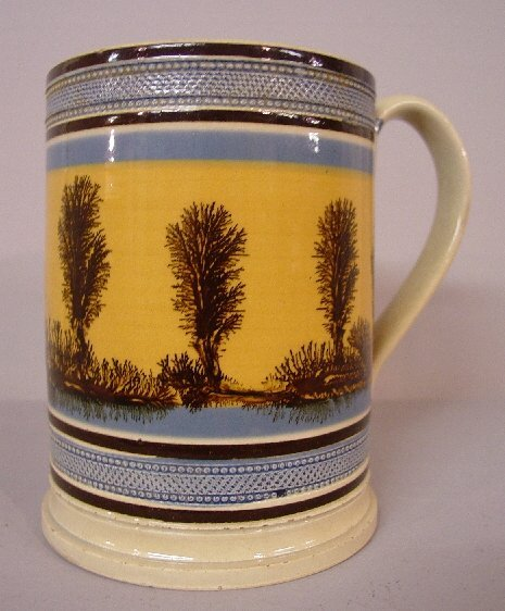 3: WONDERFUL OVERSIZE MOCHA MUG. Tooled blue