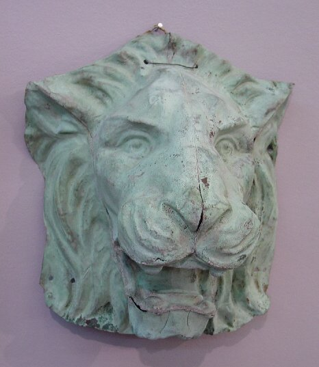 12: LION'S HEAD ORNAMENT OR ARCHITECTURAL FRA