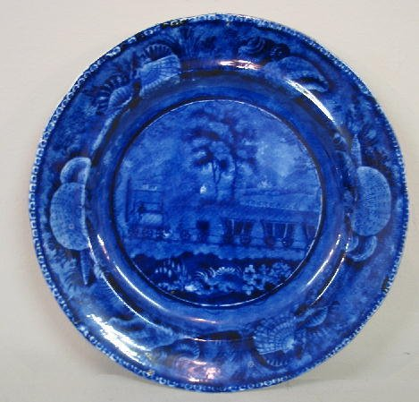 6: HISTORICAL BLUE STAFFORDSHIRE PLATE. The Baltimore &