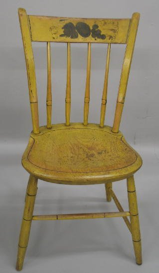 11: SET OF FOUR DECORATED  SIDE CHAIRS. Bamboo turnings