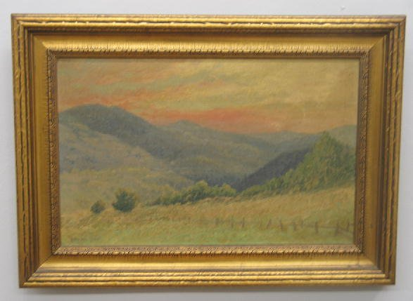 20: OIL PAINTING ON CANVAS. Landscape with rolling hill