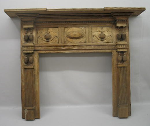 1: FINE CARVED FEDERAL MANTLE. Pine. Possibly Virginia.
