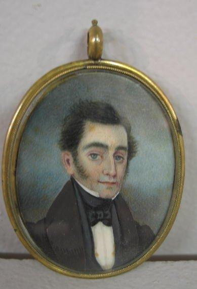 15: MINIATURE ON IVORY. Portrait of a dapper gentleman