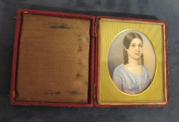 16: MINIATURE ON IVORY. Well-done portrait of a young w
