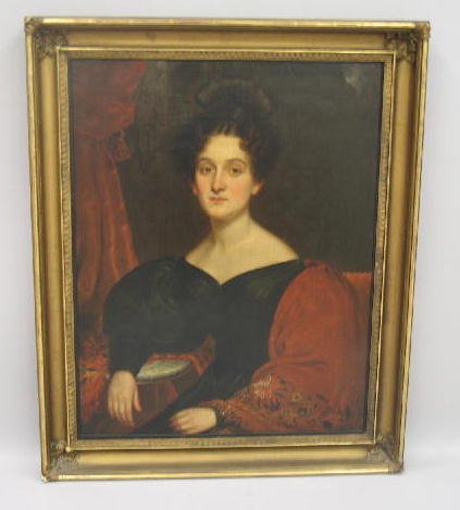 """17: OIL PAINTING BY """"F.R. SPENCER"""". Portrait on canvas"""