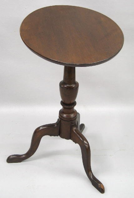 355: CHIPPENDALE CANDLESTAND. Cherry with an old dark r