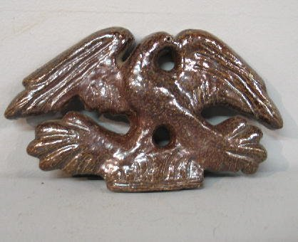 358: OHIO SEWERTILE EAGLE. Flat plaque with scratch car