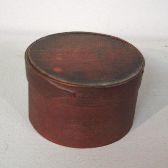 359: SMALL BENTWOOD PANTRY BOX. Shaker with original re