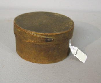 359A: SMALL BENTWOOD PANTRY BOX. Single fingers, iron t