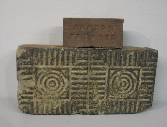 360: TWO OHIO SEWERTILE BRICKS. One is full-sized with
