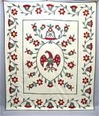 549 EAGLE QUILT Appliqued cotton summer quilt Large