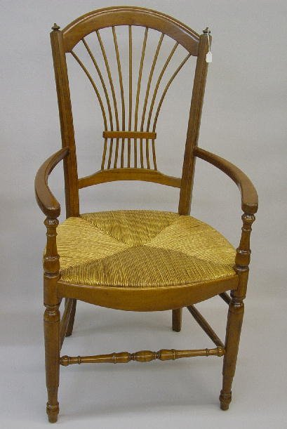 21: SET OF SIX FRENCH PROVINCIAL STYLE DINING CHAIRS. L