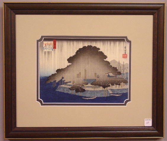 23: JAPANESE WOOD BLOCK PRINT. Turn of the century (ca