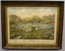 655 CURRIER  IVES HANDCOLORED LITHOGRAPH  THE LAKES