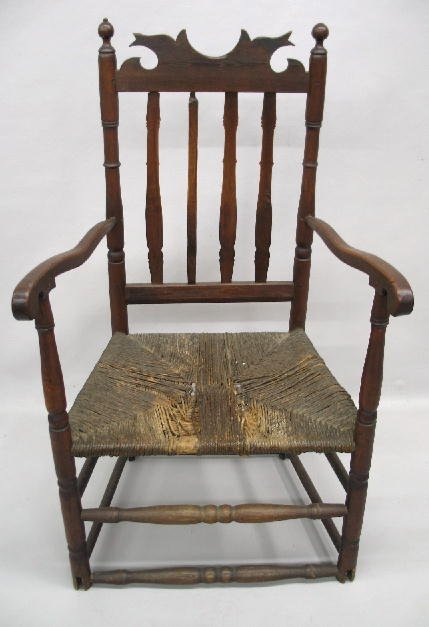 4: BANISTER BACK ARMCHAIR. Maple and ash. Possibly New