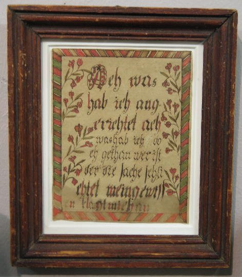 6: WATERCOLOR BOOKPLATE. German text in red and green w