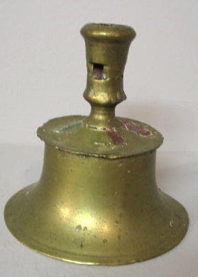 12: BRASS CAPSTAN CANDLESTICK. Nice form with two eject