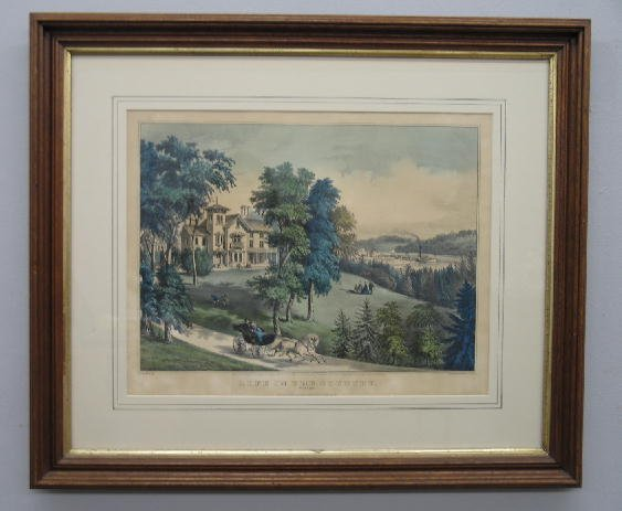 "210: HANDCOLORED LITHOGRAPH BY ""CURRIER & IVES"". ""Life"