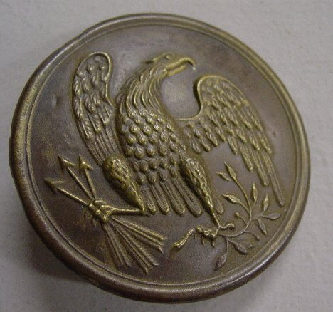 355: DUG EAGLE CROSS BELT PLATE. Civil War er