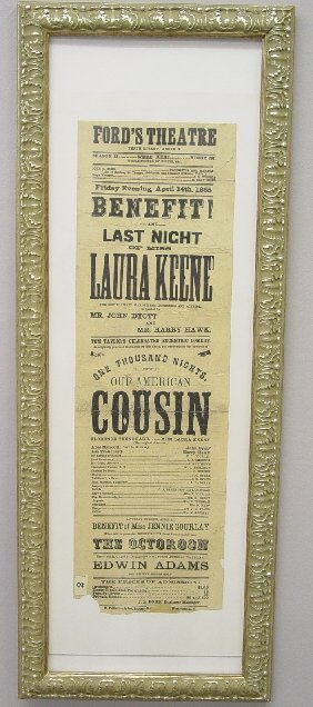 """357: RARE """"FORD'S THEATRE"""" BROADSIDE FROM THE"""
