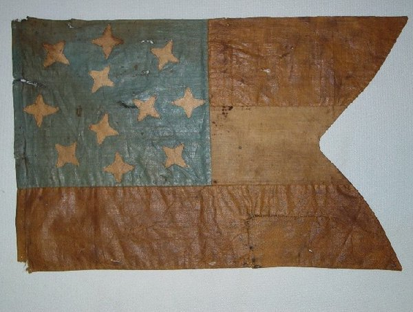 371: RARE CONFEDERATE CAVALRY GUIDON WITH LAN
