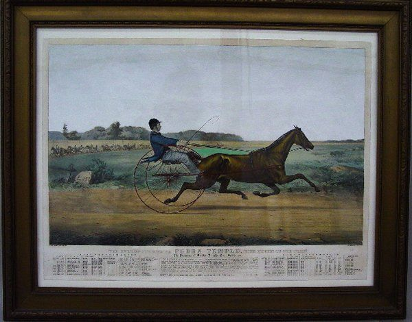 """542: HANDCOLORED LITHOGRAPH BY """"CURRIER & IVE"""