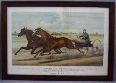 543 LITHOGRAPH BY CURRIER  IVES Large fo