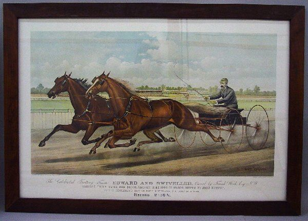"""543: LITHOGRAPH BY """"CURRIER & IVES"""". Large fo"""