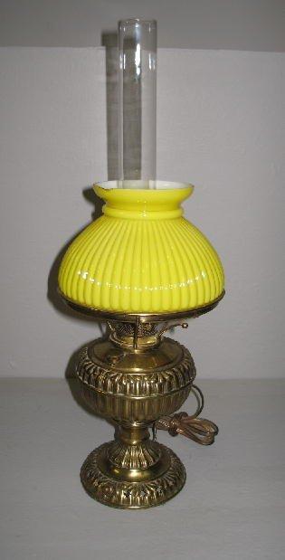 """8: SMALL BRASS OIL LAMP. """"The Jr. Rochester No. 4..."""" E"""