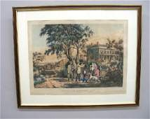 """HANDCOLORED LITHOGRAPH BY """"N. CURRIER"""". Large folio"""