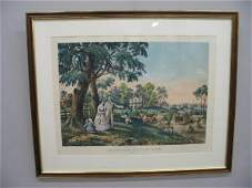 37 HANDCOLORED LITHOGRAPH BY N CURRIER Large folio