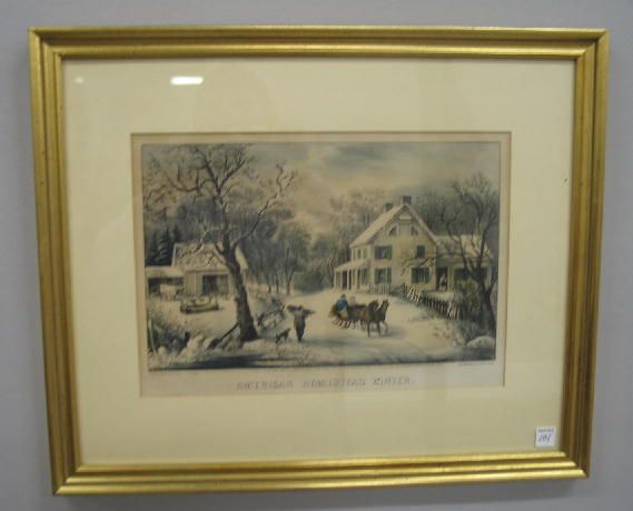 "101: HANDCOLORED LITHOGRAPH BY ""CURRIER & IVES"". ""Ameri"