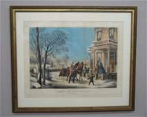 162 HANDCOLORED LITHOGRAPH BY N CURRIER Large foli