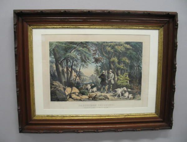 """176: HANDCOLORED LITHOGRAPH BY """"CURRIER & IVES"""". Large"""