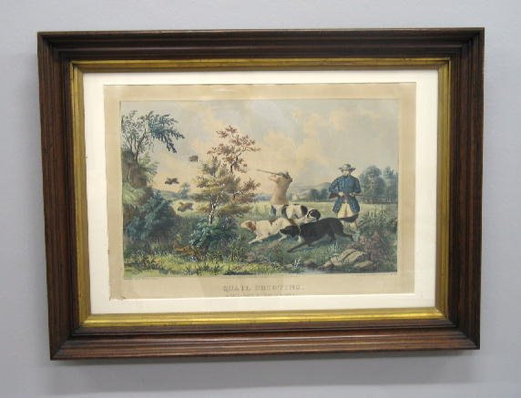 """179: HANDCOLORED LITHOGRAPH BY """"N. CURRIER"""". Large foli"""