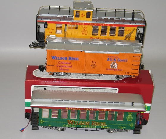 1000: LGB G SCALE CIRCUS TRAIN SET. Engine with tender  - 10