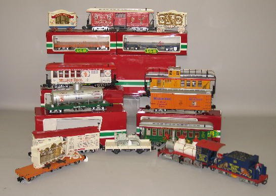 1000: LGB G SCALE CIRCUS TRAIN SET. Engine with tender