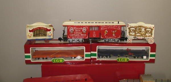 1000: LGB G SCALE CIRCUS TRAIN SET. Engine with tender  - 2
