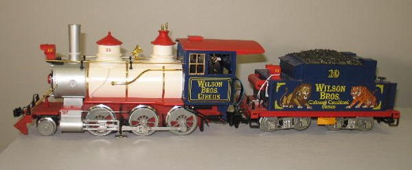 1000: LGB G SCALE CIRCUS TRAIN SET. Engine with tender  - 3