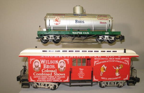 1000: LGB G SCALE CIRCUS TRAIN SET. Engine with tender  - 6