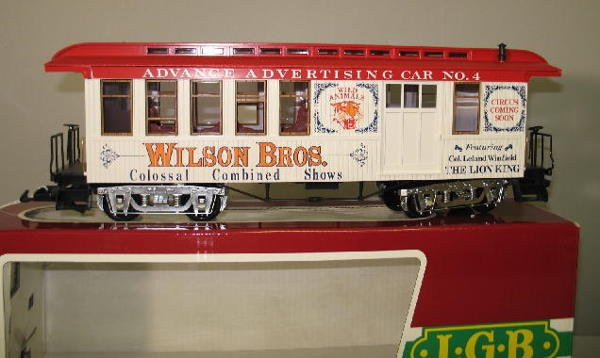 1000: LGB G SCALE CIRCUS TRAIN SET. Engine with tender  - 7