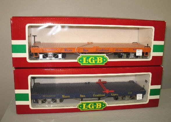 1000: LGB G SCALE CIRCUS TRAIN SET. Engine with tender  - 8