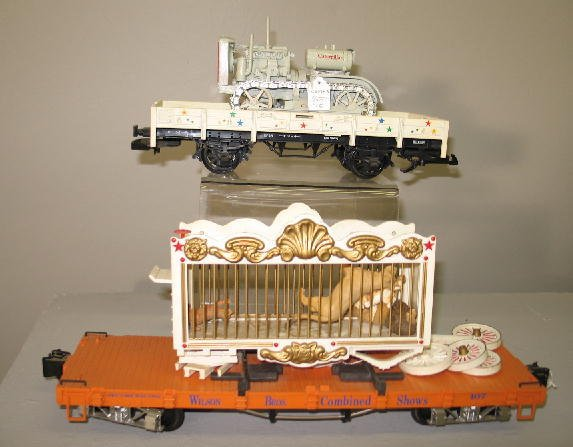 1000: LGB G SCALE CIRCUS TRAIN SET. Engine with tender  - 9