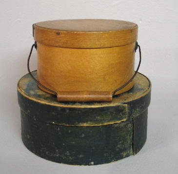 2004: TWO BENTWOOD BOXES. Both have lapped seams and co