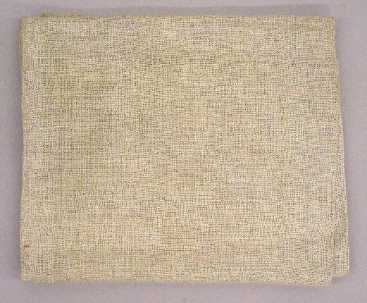 11: THREE TEXTILES. Pictured is a small hooked mat with - 4