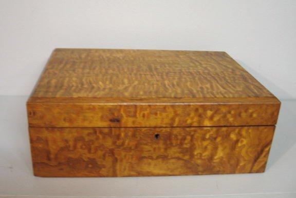 103: TABLE TOP WRITING DESK. Flame birch veneer over ce - 6
