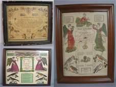 181 THREE PENNSYLVANIA FRAKTURS Printed with handcolo