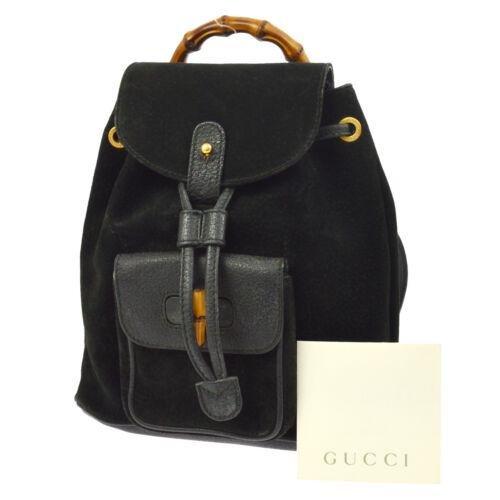GUCCI Bamboo Backpack Hand Bag
